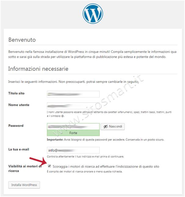 WordPress Fine Installazione