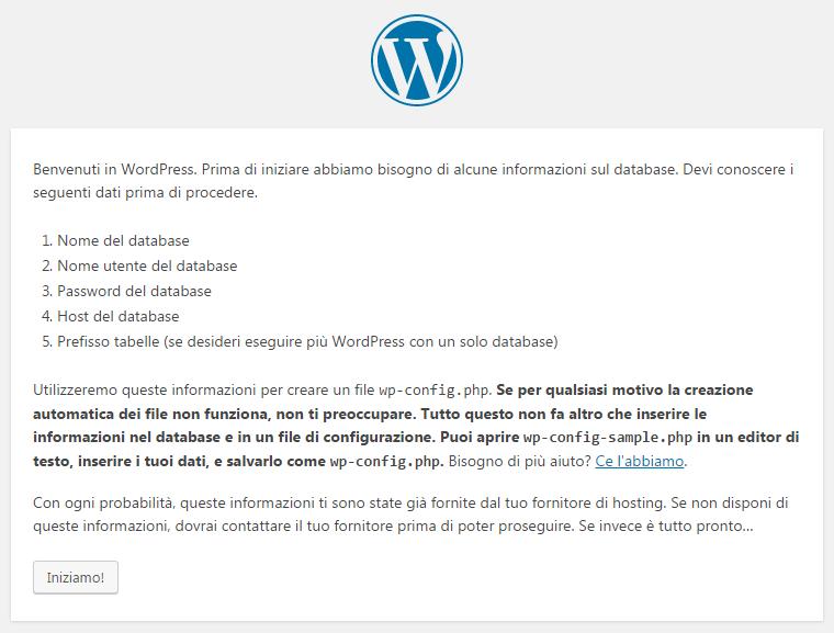 WordPress Benvenuto
