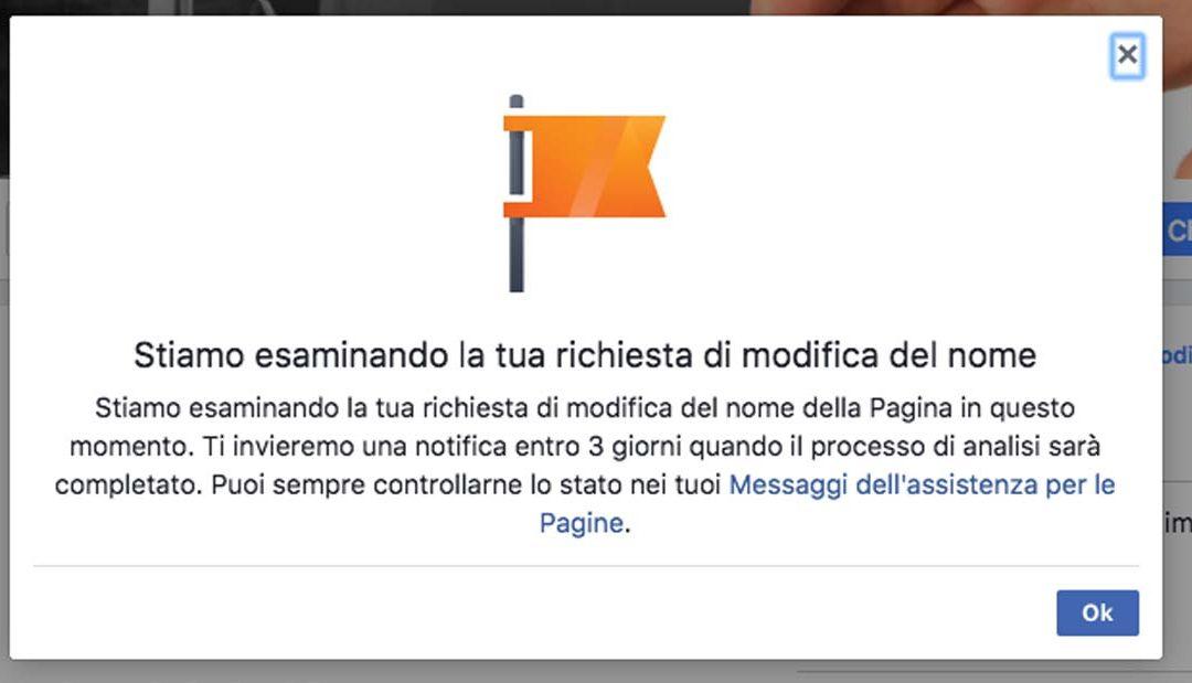Come cambiare il nome di una Pagina Facebook