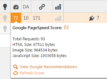 cms commander pagespeed